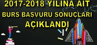 2017-2018 Eğitim-Öğretim Yılı Burs Başvuru Sonuçları Açıklandı