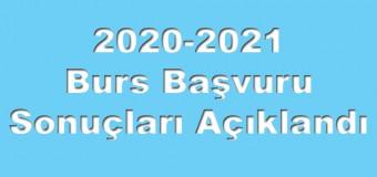 2020-2021 Burs Başvuru Sonuçları Açıklandı